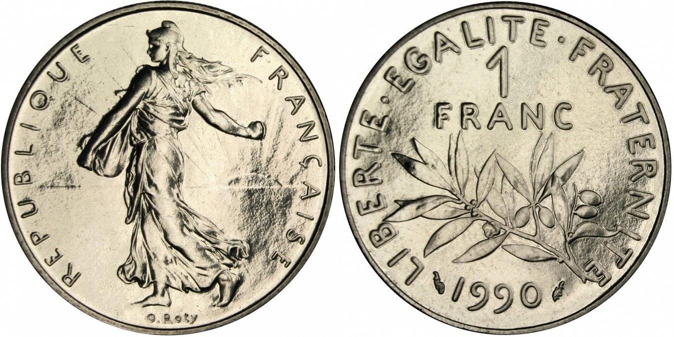Franc 1990 Frankreich Semeuse MS(65-70)
