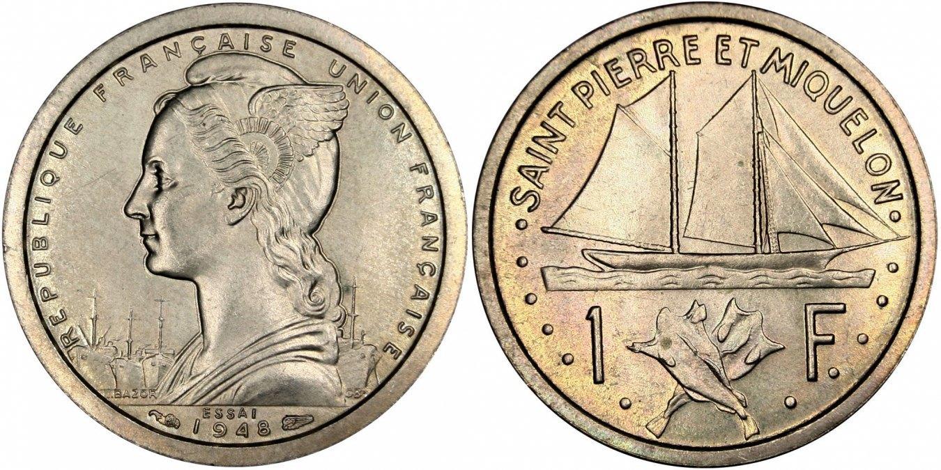 Franc 1948 (a) SAINT PIERRE & MIQUELON MS(63)