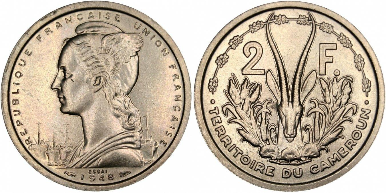 2 Francs 1948 (a) Kamerun MS(63)