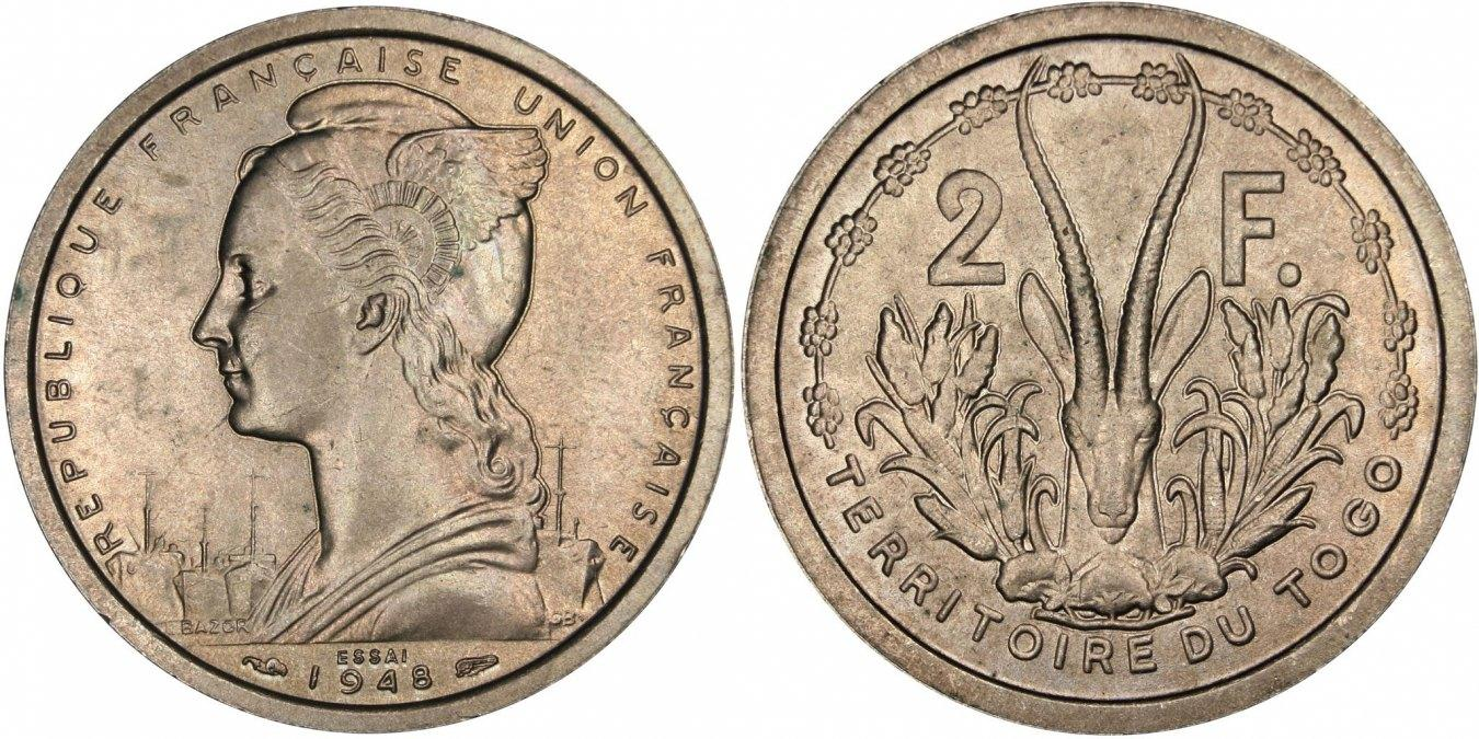 2 Francs 1948 (a) Togo MS(63)