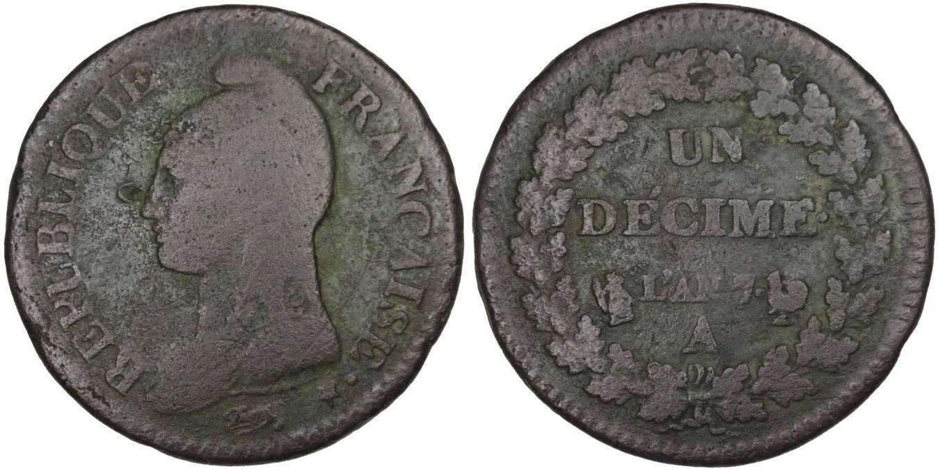 Decime 1799 A Frankreich Dupré VF(20-25)