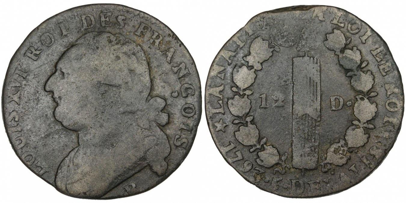 12 Deniers 1793 R Frankreich 12 deniers françois VF(20-25)