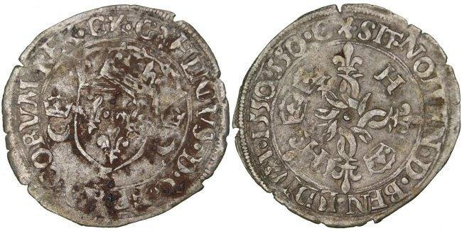 Douzain 1550 Grenoble Frankreich 1547-1559 Henri II VF(30-35)