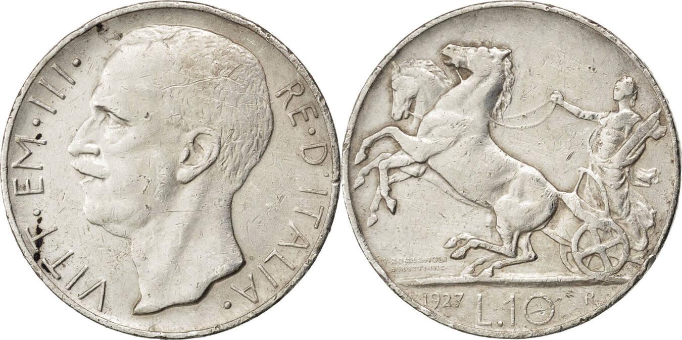 10 Lire 1927 R Italien Vittorio Emanuele III EF(40-45)