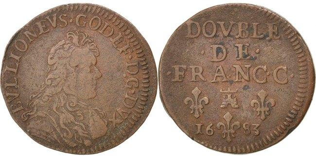 Double de Franc-c 1683 Frankreich EF(40-45)