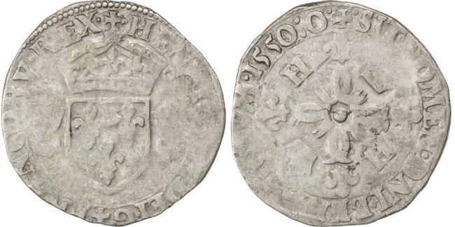 Douzain 1550 Montélimar Frankreich 1547-1559 Henri II VF(20-25)