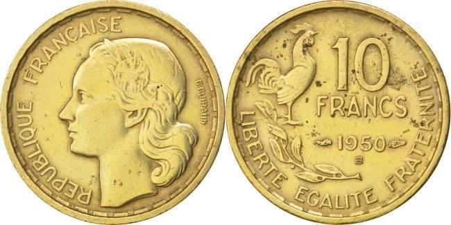 10 Francs 1950 B Frankreich Guiraud EF(40-45)
