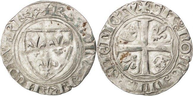 Blanc Saint André Villeneuve Le Frankreich 1380-1422 Charles VI le Fol EF(40-45)