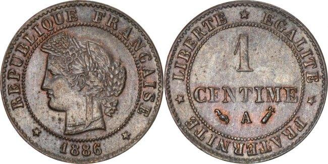 Centime 1886 A Frankreich Cérès AU(55-58)