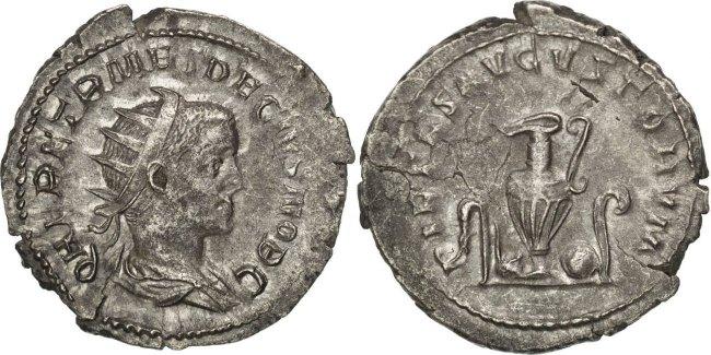 Antoninianus Roma Herennius Etruscus AU(50-53)