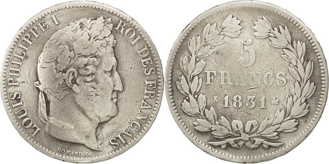 5 Francs 1831 K Frankreich Louis-Philippe VF(30-35)