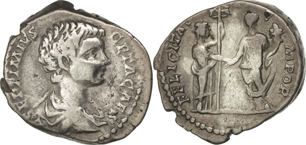 Denarius Rome Geta VF(30-35)