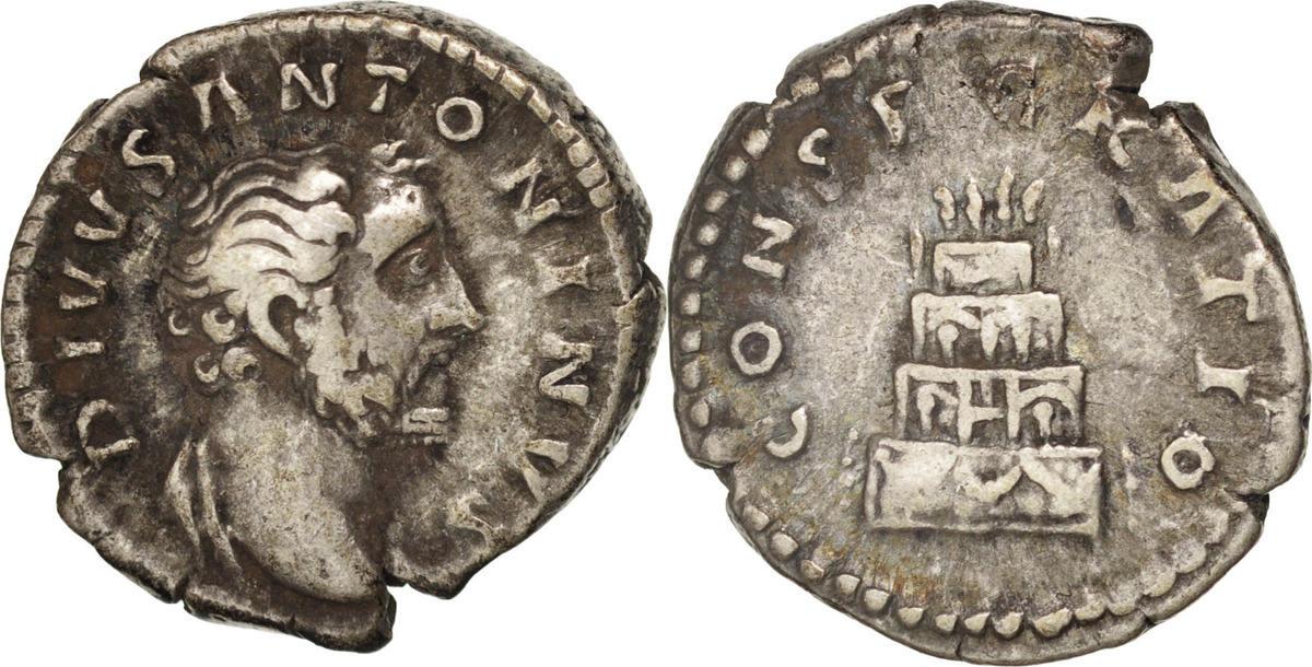 Denarius Rome Antoninus Pius VF(30-35)