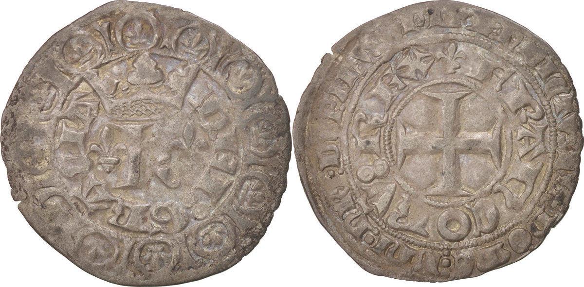 Blanc Frankreich 1364-1380 Charles V le Sage AU(50-53)