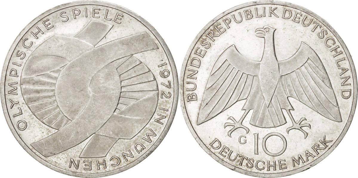 10 Mark 1972 G Bundesrepublik Deutschland MS(60-62)