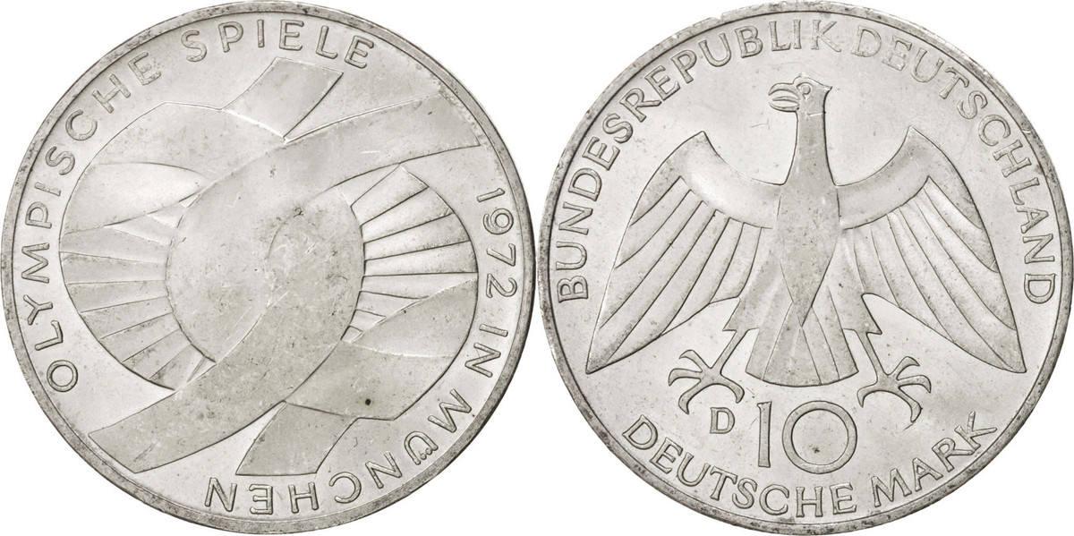 10 Mark 1972 D Bundesrepublik Deutschland MS(60-62)