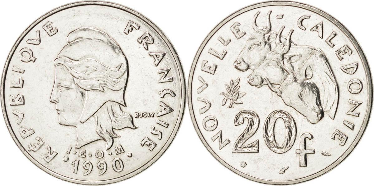 20 Francs 1990 (a) Neukaledonien MS(64)