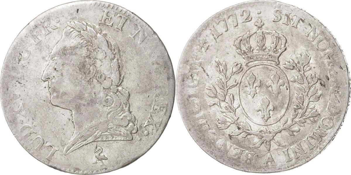 Ecu 1772 A Frankreich Écu à la vieille tête Louis XV VF(30-35)