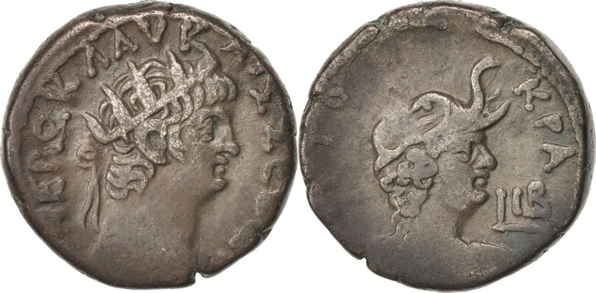 Tetradrachm Alexandria Nero EF(40-45)