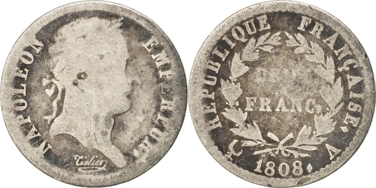 1/2 Franc 1808 Paris Frankreich Napoléon I F(12-15)