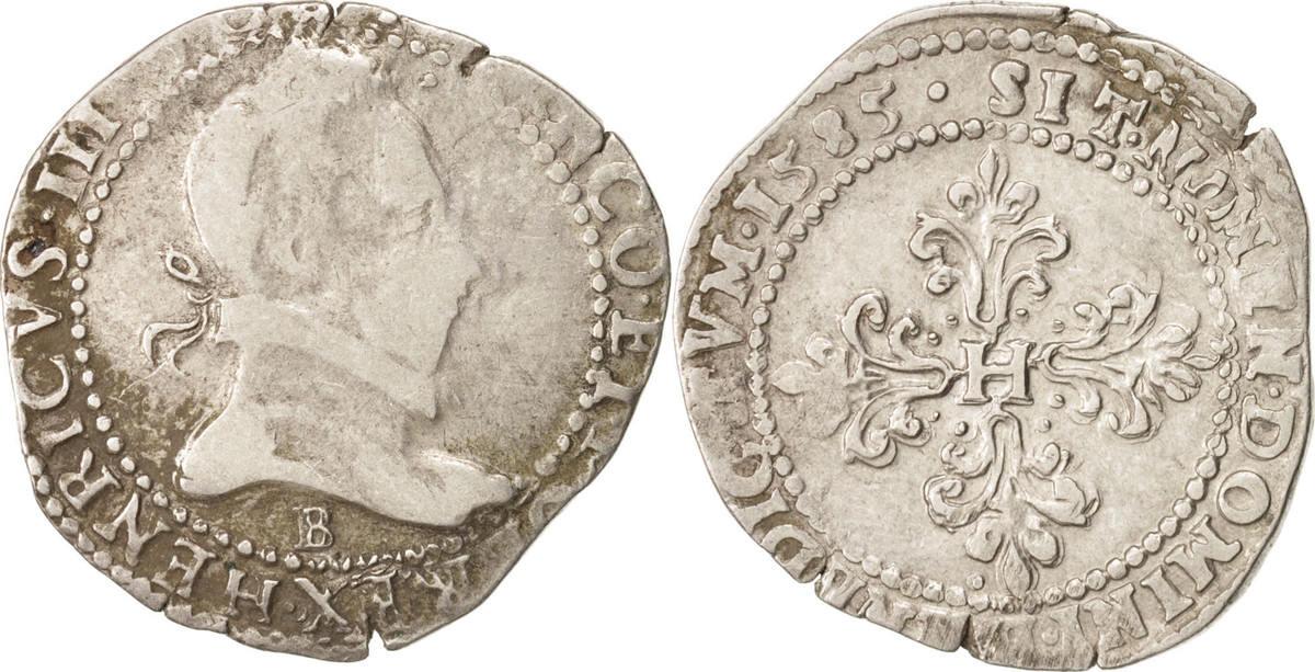 Demi Franc 1585 Rouen Frankreich VF(30-35)