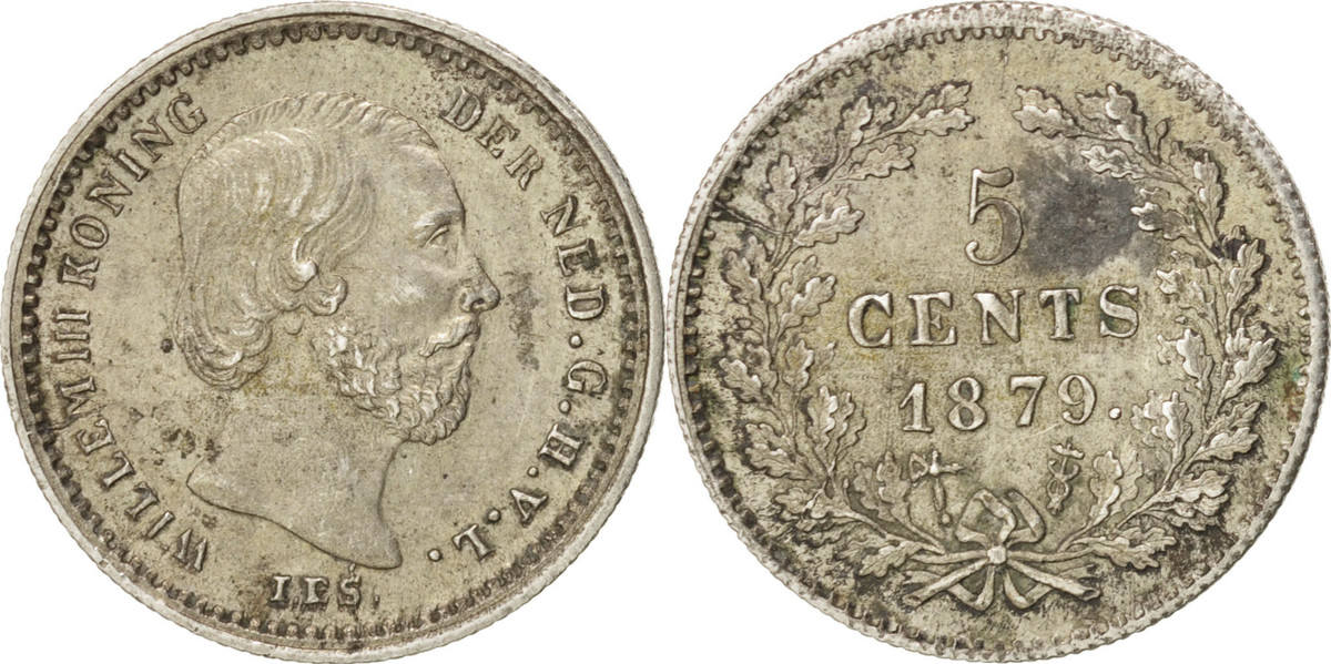 5 Cents 1879 Niederlande William III AU(55-58)