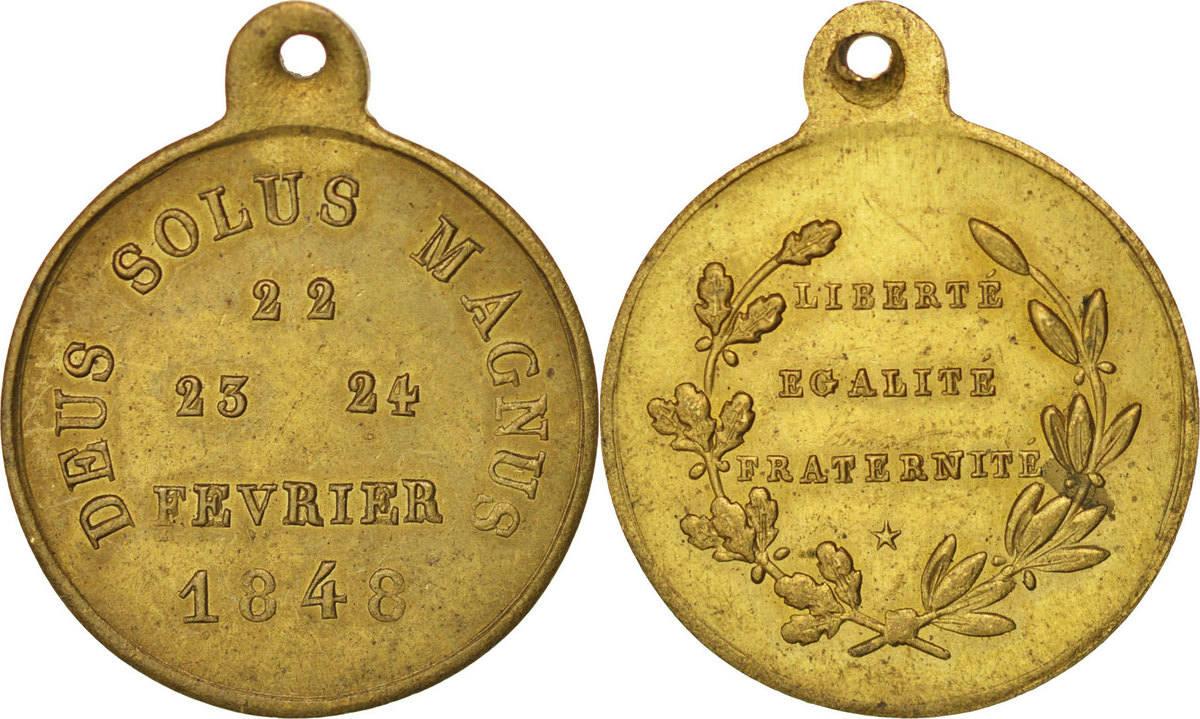 Medal 1848 Frankreich AU(55-58)