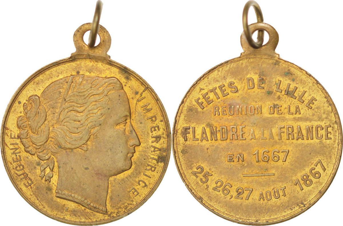 Medal 1867 Frankreich AU(50-53)