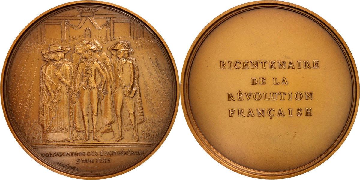 Medal 1988 Frankreich AU(55-58)