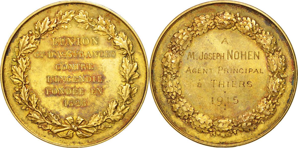 Medal 1915 Frankreich AU(50-53)