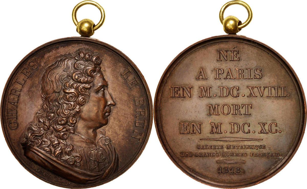 Medal 1818 Frankreich AU(50-53)