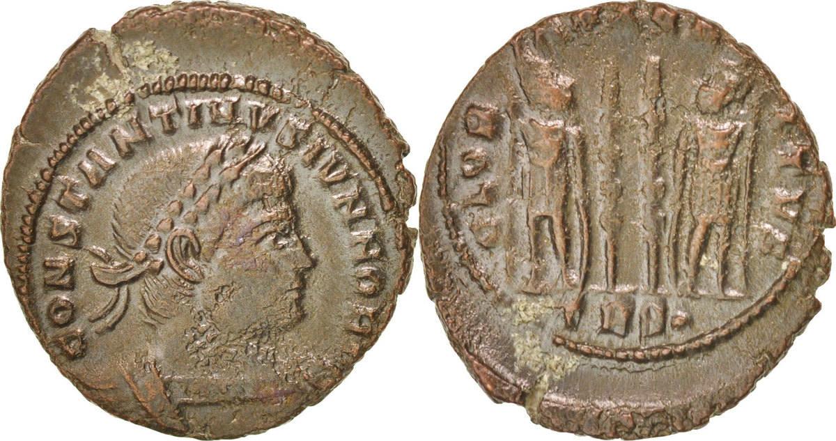 Nummus Trier Constantine II EF(40-45)