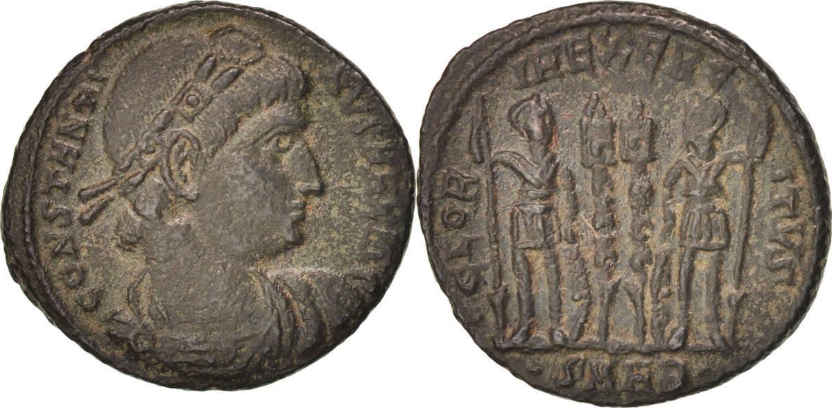 Follis Kyzikos Constantine I AU(50-53)