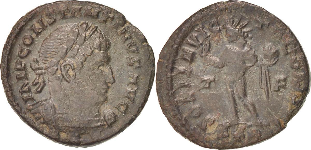 Follis Trier Constantine I EF(40-45)