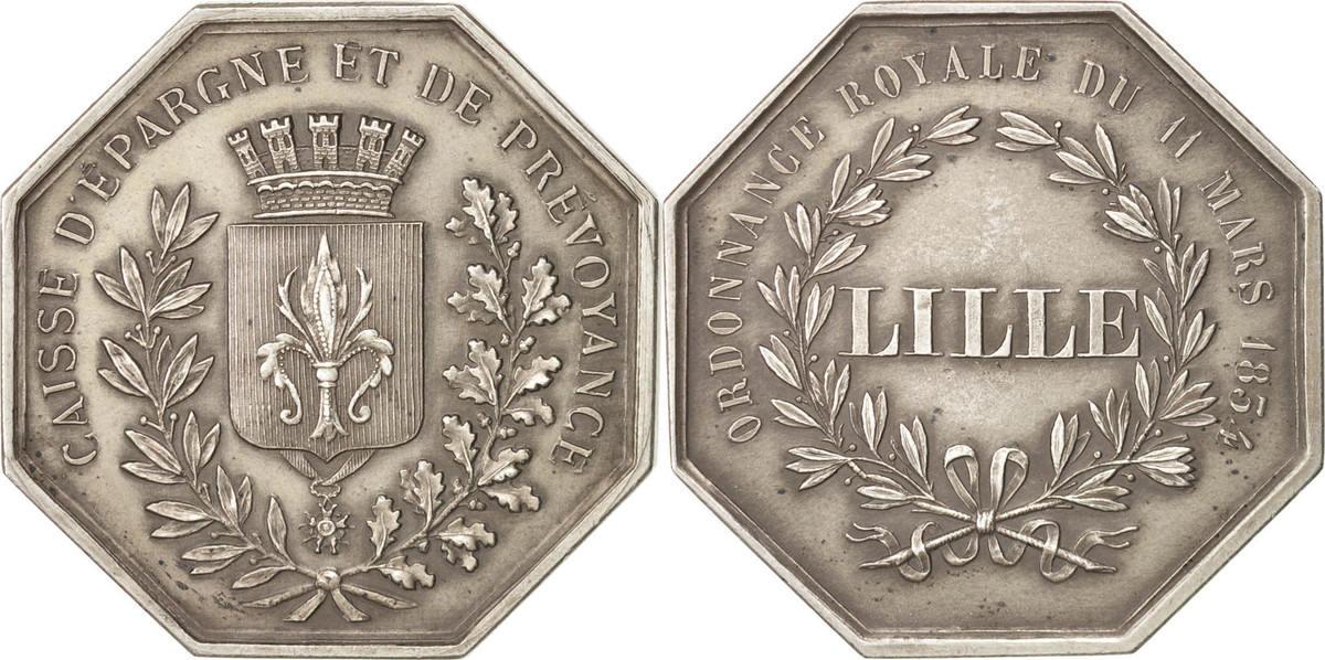Token 1854 Frankreich AU(55-58)