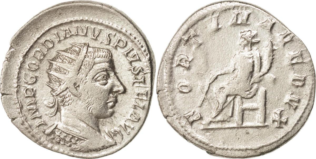 Antoninianus 243 Antioch Gordian III EF(40-45)