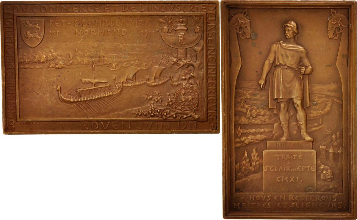 Medal 1911 Frankreich AU(50-53)
