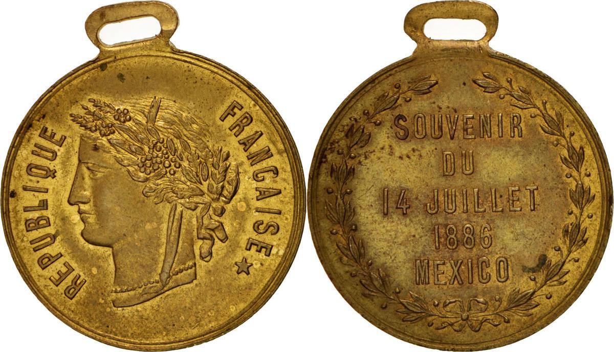 Medal 1886 Frankreich AU(55-58)