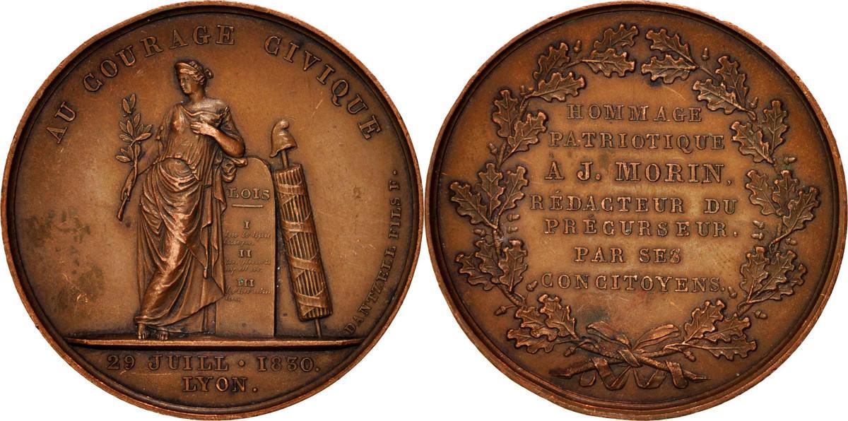 Medal 1830 Frankreich AU(50-53)