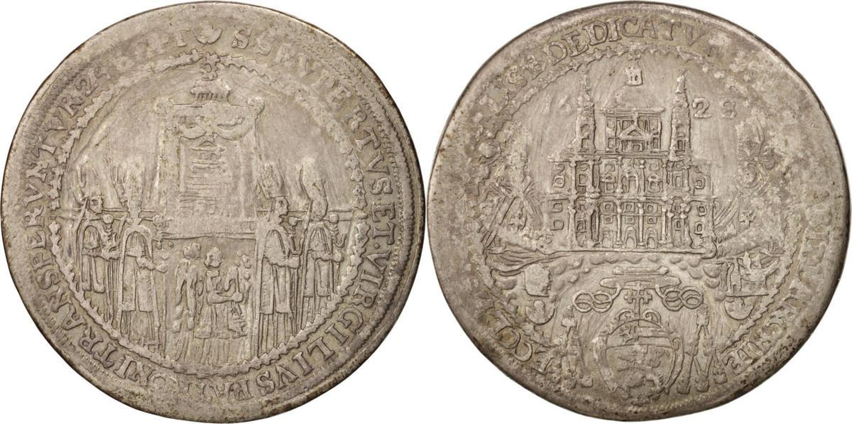 1/2 Thaler 1628 Salzburg AUSTRIAN STATES Cathedral Dedication Paris VF(30-35)
