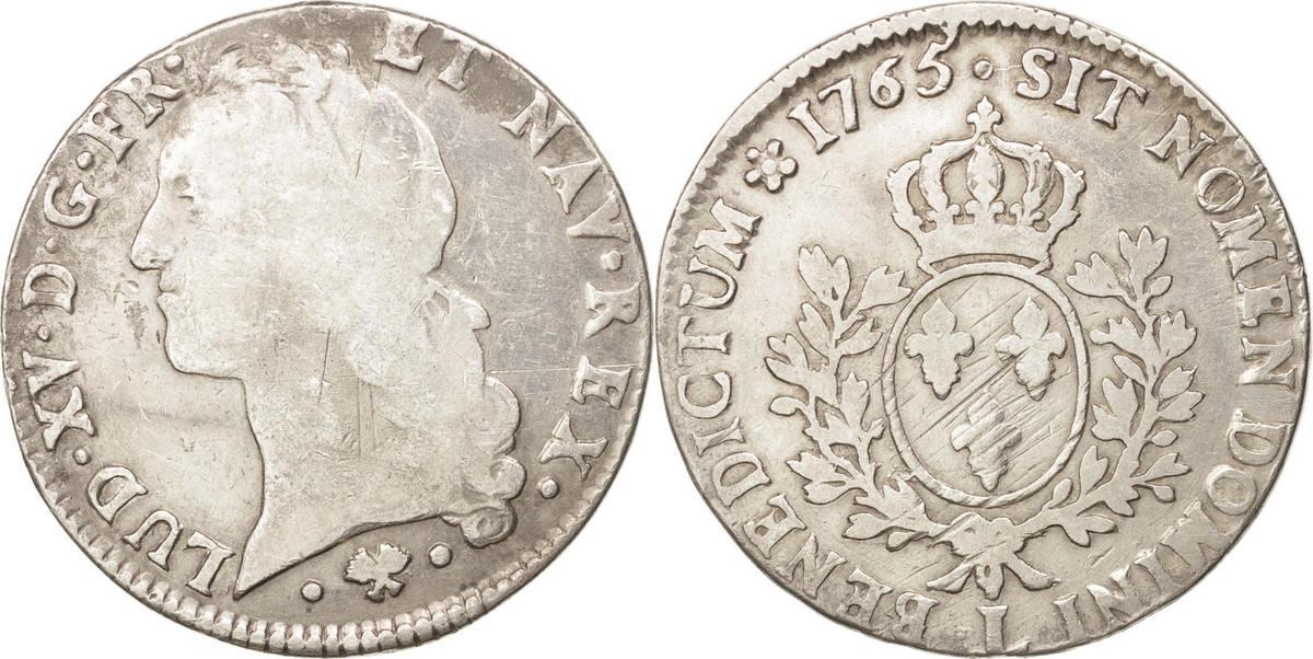 Ecu 1765 L Frankreich Écu au bandeau Louis XV VF(30-35)