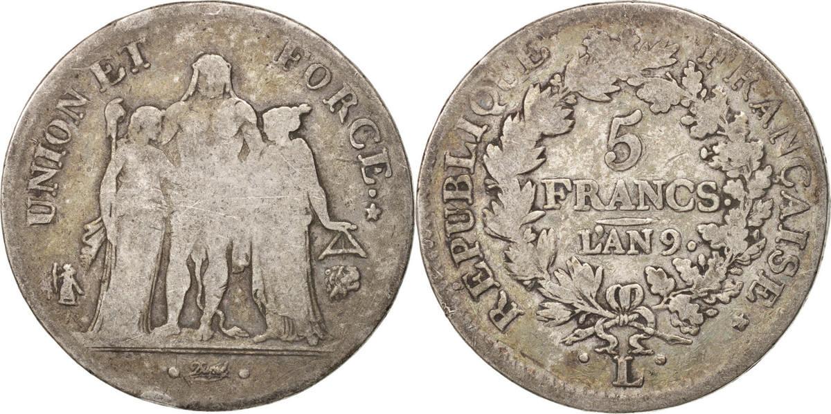 5 Francs 1800 L Frankreich Union et Force VF(20-25)