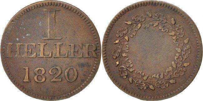 Heller 1820 Frankfurt Deutsch Staaten EF(40-45)