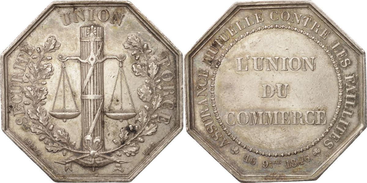 Jeton 1846 Frankreich AU(55-58)