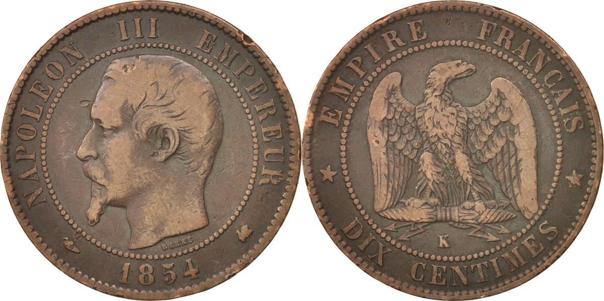10 Centimes 1854 K Frankreich Napoléon III Napoleon III VF(20-25)