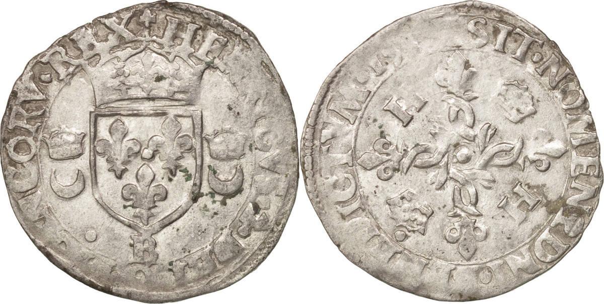 Douzain aux croissants 1549 Rouen Frankreich EF(40-45)