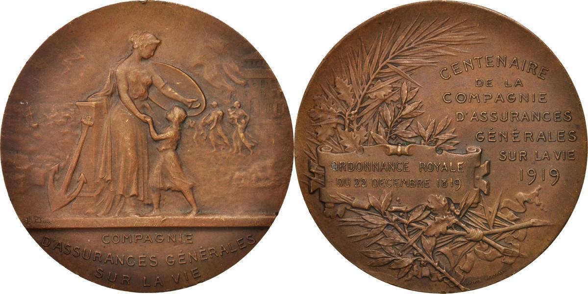 Medal 1919 Frankreich AU(50-53)