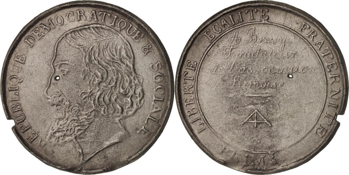 Medal 1848 Frankreich AU(50-53)