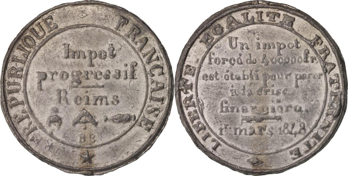Medal 1848 Frankreich EF(40-45)