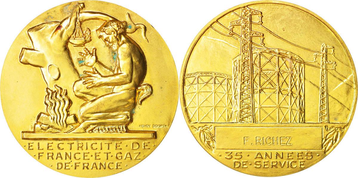 Medal XXth Century Frankreich AU(50-53)